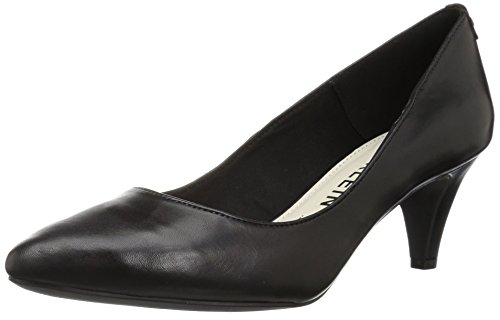 Anne Klein Women's Rosalie Leather Pump, Black Leather, 9.5 M US by Anne Klein