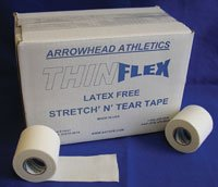 TF200 Tape ThinFlex Athletic White 2''x7.5Yd 24/Case Part# TF200 by Arrowhead Athletics Qty of 1 Case by DIRECT INC