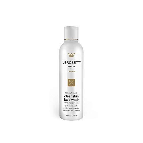 LEROSETT® Purifying (ClearSkin) Face Wash 6.7 oz-Based on Nutrient Rich Organic Aloe