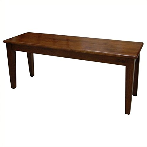 Boraam 36636 Shaker Bench, Walnut