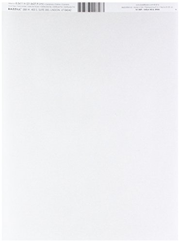 Bazzill Basics Paper 25 Sheets of 8.5 x 11 Inch White 40 Lb Vellum Bazzill Basics, - Bazzill Cardstock Paper Basics