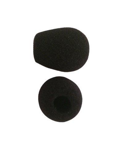Mic Accessories Windscreens (Black Foam Mic Windscreens for Telephone Headsets - QUANTITY OF 6)