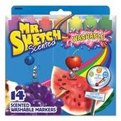 Mr. Sketch Scented Washable Markers, Assorted Scents and Colors, Chisel Tip, Pack of 14 by Mr. Sketch