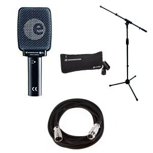 Mic Cable Sennheiser - Sennheiser E906 Instrument Microphone Bundle with Amp Mic Stand and Cable