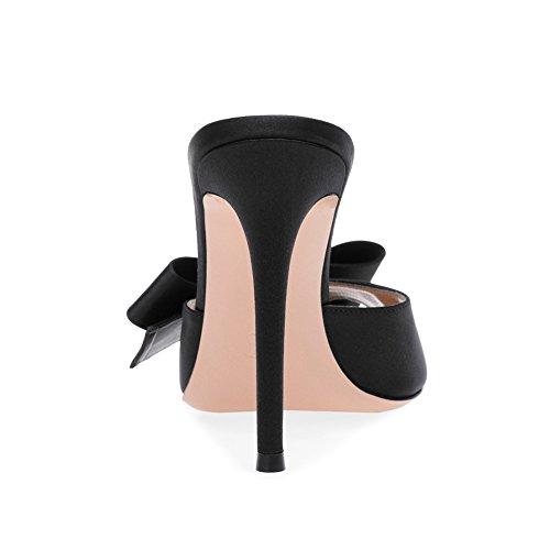 Robe Tissu Soire XUE Une Pointu Chaussures 45 Talon Sandales Travail Talon Business Confort Formel Couleur Femmes de Marche Taille Stiletto Mariage Chaussures Mariage de Une qq6rOEFcxw