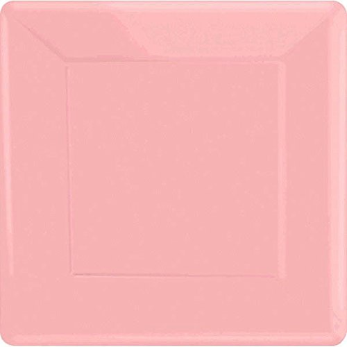 Amscan New Pink Square Paper Plates,  20 Ct. | Party Tableware