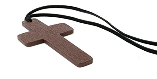 Big Apple Discounts Wooden Cross Costume Jewlery Accessory (One -