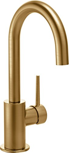Delta Faucet Trinsic Single-Handle Bar-Prep Kitchen Sink Faucet, Champagne Bronze ()