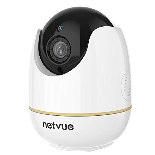 Pet Camera, Netvue 1080P Home Camera 2 Way Audio and Night Vision, Motion Tracker, Compatible with Alexa Echo Show, Pet Monitor, Baby Camera with Cloud Storage (1080P Orbcam)
