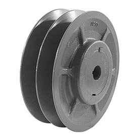 Browning 2VP65X 1 5/8 Variable Pitch Sheave, 2 Groove, Finished Bore, Cast Iron Sheave, for 4L or A, 5L or B, 5V Section Belt