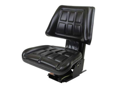 Black Universal Trapezoid Tractor Suspension Seat, Multi-Angle Base for Ford/New Holland 600, 601, 800, 801, 640, 840, 4600, 4610, 5000, 5600, 5610, 5910, 6600, 6610 (FAST & FREE DELIVERY!) #IF50 Concentric