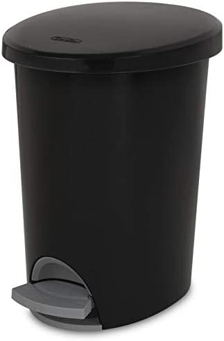 BUNDLE Corp 10819002 Waste Basket Step On Black 2.6 G 2 g With Additional Item see photo