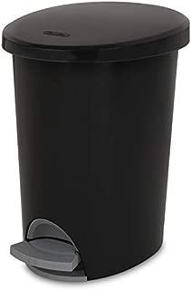 product image for Sterilite Corp 10819002 Waste Basket Step On Black 2.6 G, 2 g