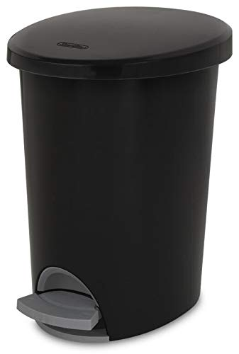 STERILITE Corp 10819002 Waste Basket Step On Black 2.6 G, 2 g by STERILITE