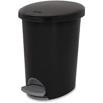 STERILITE Corp 10819002 Waste Basket Step On Black 2.6 G, 2 g