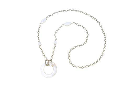 Eyeglasses Holder Necklace Strap Stainless Steel And Sea Shell Exotic Design Eyeglass Holder For Women (Eyeglass Necklace)