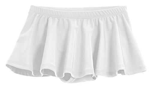 City Threads Little Girls' Swimming Suit Bottom Bikini Skort Swim Skirt Coverup Wrap Sun Protection for Modesty yet Fashionable White, 5