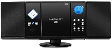 OneConcept V-12 HiFi CD Player Negro HiFi CD Player, Negro, SD, LCD, AA Unidad de CD