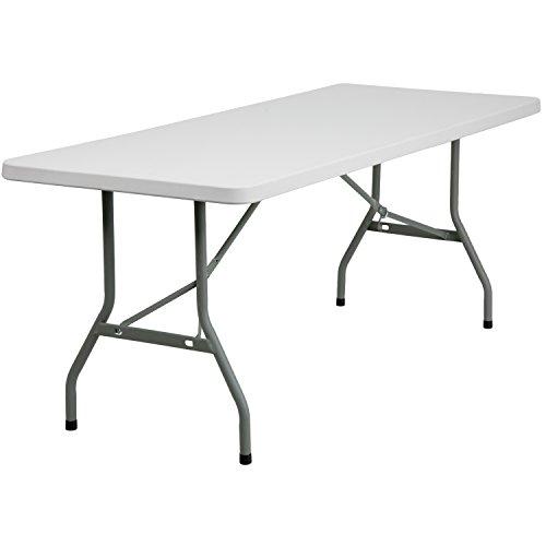 W x 72''L Granite White Plastic Folding Table ()