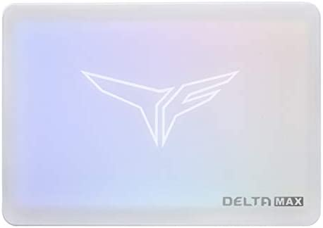 TEAMGROUP T-Force Delta MAX White ARGB Addressable RGB 1TB SSD with DRAM three-D NAND TLC 2.5 Inch SATA III Internal Solid State Drive (Read/Write Speed as much as 560/510 MB/s) for PC Desktop T253TM001T3C402