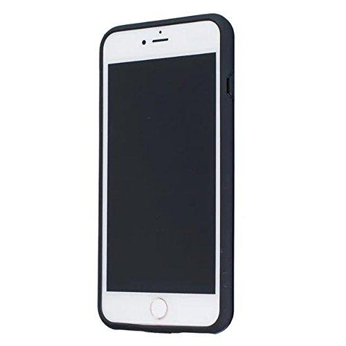 EKINHUI Case Cover 2 in 1 neue Rüstung Solid Color Dot Muster mattiert Stil Hybrid Dual Layer Rüstung Defender PC Hard zurück Fall Deckung Shockproof Fall Für Apple IPhone 7 Plus 5,5 Zoll ( Color : Bl