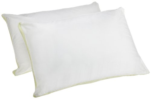 Medium Density Bed Pillows (Perfect Fit Medium Density Queen Size 233 Thread-Count Quilted Sidewall Pillow 2 Pack, White)