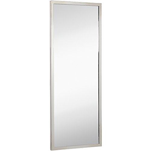 Commercial Grade Contemporary Industrial Strength Full Length Wall Mirror | Polished Stainless -