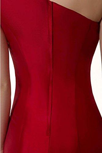 Couleur Coloredress Design Robe Courte Sirène E Élégante Une Épaule Robe De Soirée Noire