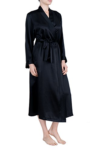 OSCAR ROSSA Women's Luxury Silk Sleepwear 100% Silk Long Robe Kimono by OSCAR ROSSA