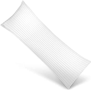 Utopia Bedding Soft Body Pillow - Long Side Sleeper Pillows for Use During Pregnancy - 100% Cotton Cover with Soft Polyester Filling (Single Pack)