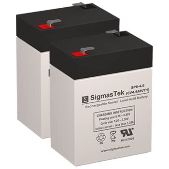 3fm4 5 6 volt 4 5 amph sla replacement battery with f1 terminal automotive. Black Bedroom Furniture Sets. Home Design Ideas