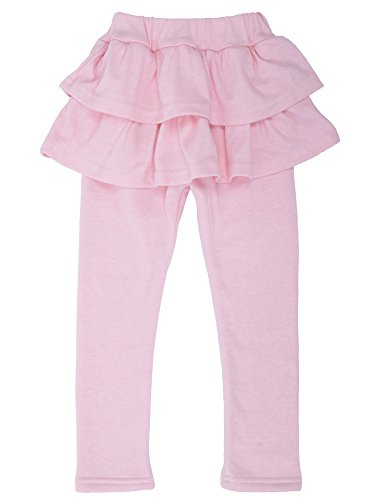 Girls Winter Leggings Pants Solid Footless Tights Culottes,Pink,6x