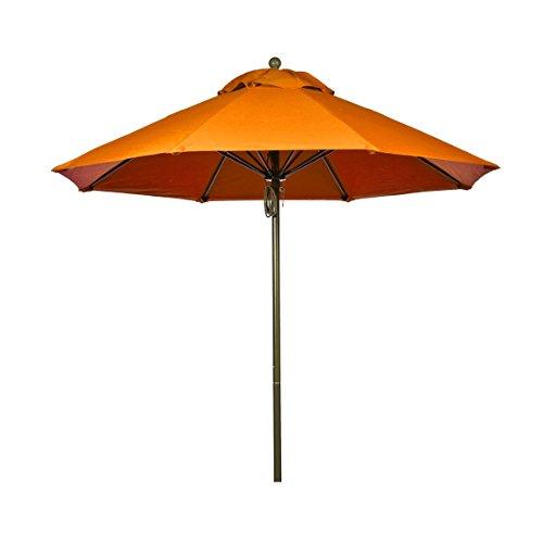 9 ft. Commercial Grade Fiberglass Market Umbrella with Acrylic Fabric, Aluminum Pole, Pulley Lift, Non Tilt Review