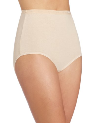 Bali Women's Stretch Brief Panty, Soft Taupe, 7