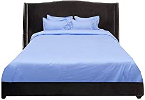 Brightlinen Light Blue Superking (180 X 200 Cm) Duvet Set Solid 5pcs