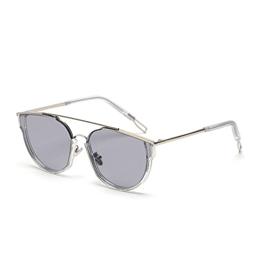 BAI De zhenghao Sol Haz El Tipo Sol De 31075 Cara De Xiao Retro Gafas Silver Gafas LIU Redonda Doble Xue Piel 5Cs 5Cs Piloto Mismo Amantes Mujeres Ash con Light Transparent Box Studio Tao Frame HYBUxdqw