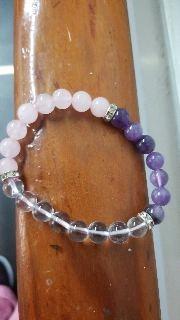 Rose Quartz Amethyst Bracelet -Anti Depression Bracelet photo review
