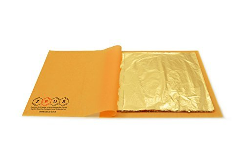 oro antico 16 x 16 cm Oro imitazione in foglia libera 100 fogli