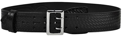 Tactical 365 Operation First Response Police & Security Black Leather Duty Sam Browne Basketweave Belt Made in the USA (34, (Sam Browne Duty Belt)