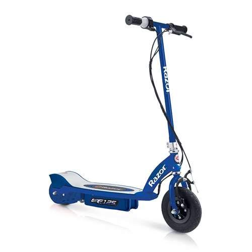 Razor E125 Motorized 24-Volt 10 MPH Rechargeable Kids Electric Scooter, Blue