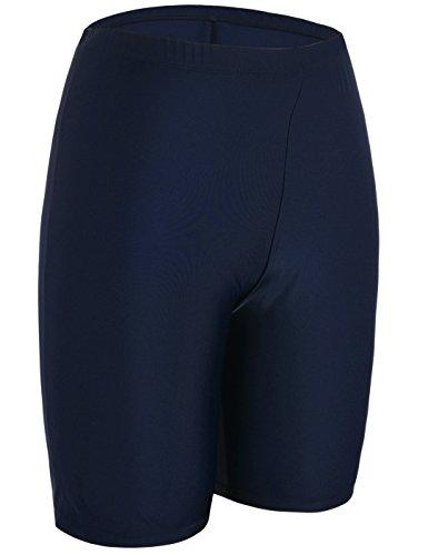 50+ Sport Board Shorts Swimsuit Bottom Capris US14 Navy (Button Navy Suit)