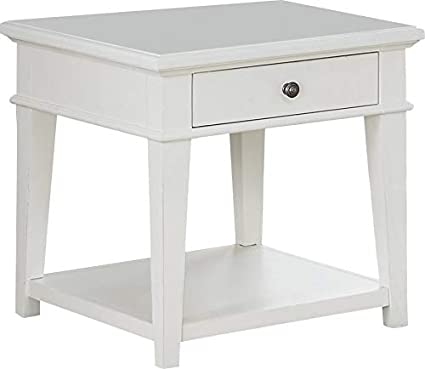 Amazon Com End Table With Shelf And Drawer Wood End Table Off