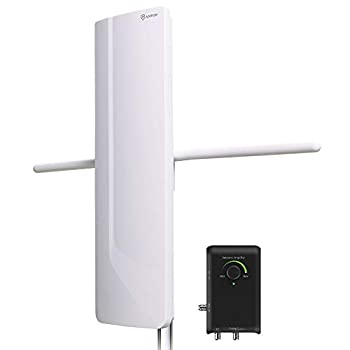 Image of ANTOP HDTV Amplified Antenna, Big boy Antenna with Noise-Free 4G LTE Filter & Smart Boost System for Dual Connectivity,Support TV and A Second TV or any OTA-Ready Streaming Device or Projector TV Antennas