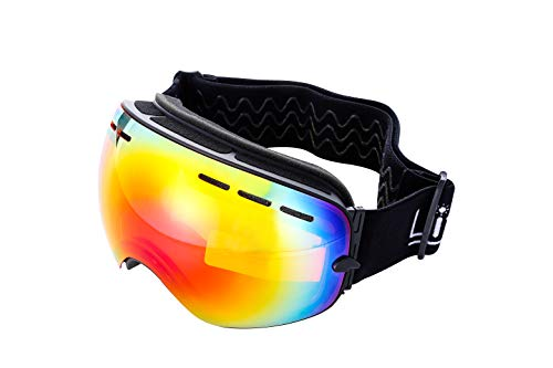 Mira - Ski Goggle Replacement Lens - Anti-Fog, Anti-Wind, UV400 Protection - Red Lens from MIRA