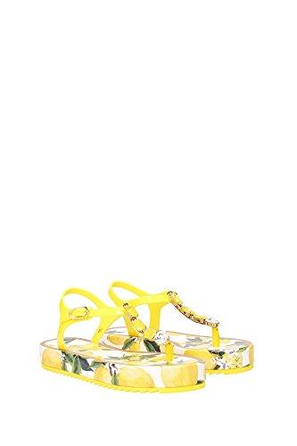 CW0035A437480204 Dolce&Gabbana Chancletas Mujer Caucho Amarillo Amarillo