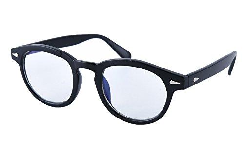Beison Computer glasses Optical Eyeglasses Frame Spectacles Clear Lens (Matte black, Clear)