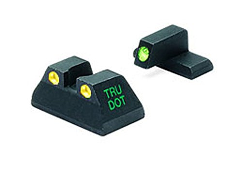 Meprolight Heckler & Koch Tru-Dot Night Sight for USP full size .40 and .45 ACP fixed set with yellow rear sight and green front sight