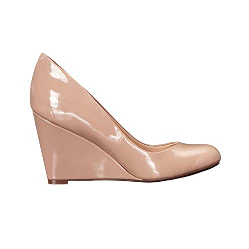 Tête Ronde Chaussures Femmes Des Talon Chaussures Fermé Simples Apricot Portant Compensé Habillées Long Chaussures Day Élégant Confortable Bout 4gqdnFSq