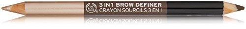 The Body Shop 3 in 1 Brow Definer, 0.04 Oz - Dark (Brown Eyes Body)