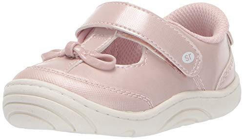 - Stride Rite Baby Girl's Caroline Bow T-Strap Sneaker, Light Pink, 5.5 M US Toddler